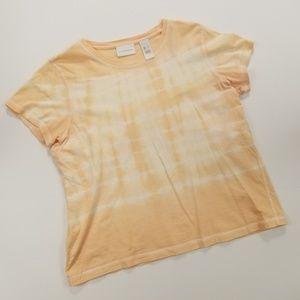 Liz Claiborne Peach Tye Dye T-Shirt Large